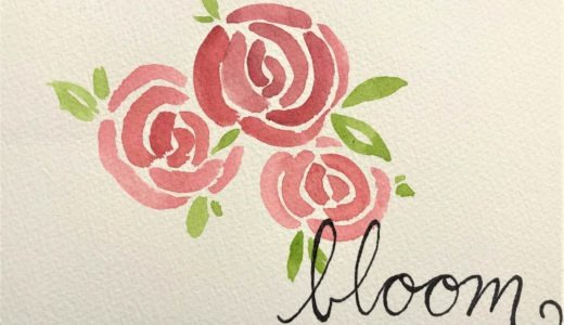 Finished product of rose painting tutorial.