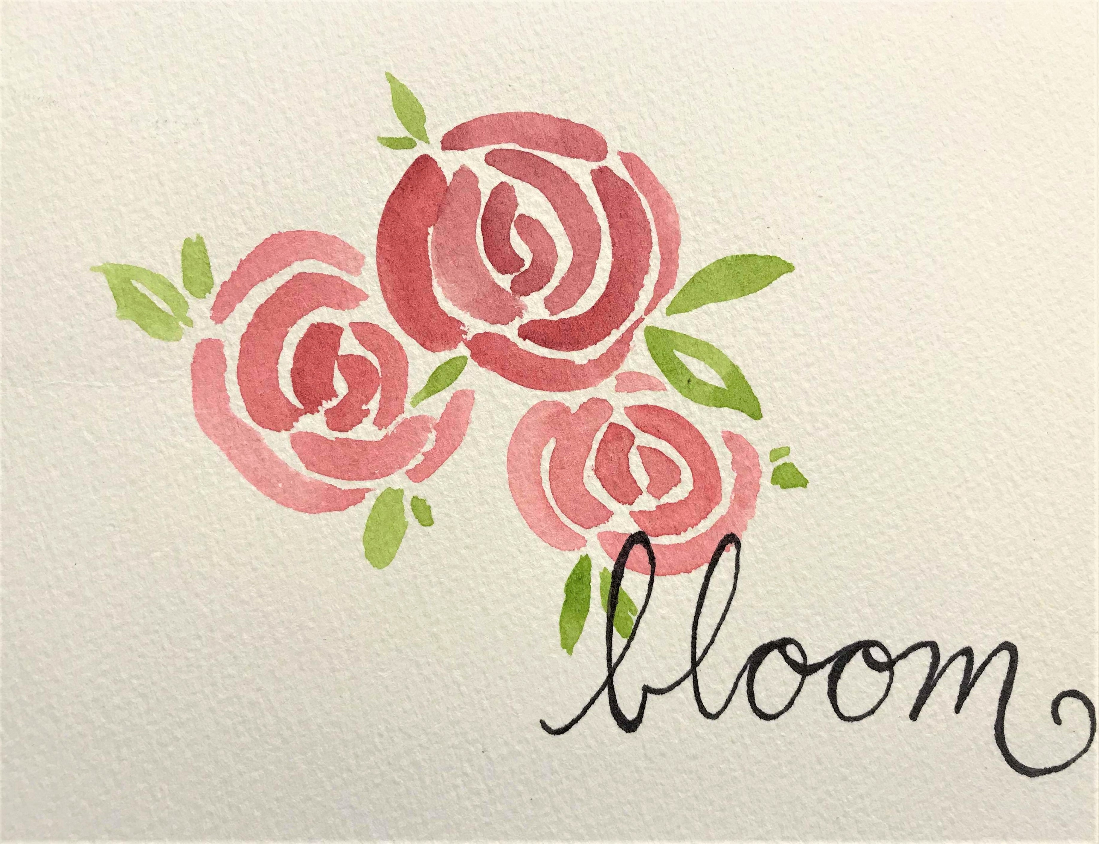 How To Paint a Simple Watercolour Rose for Beginners | SCYAP