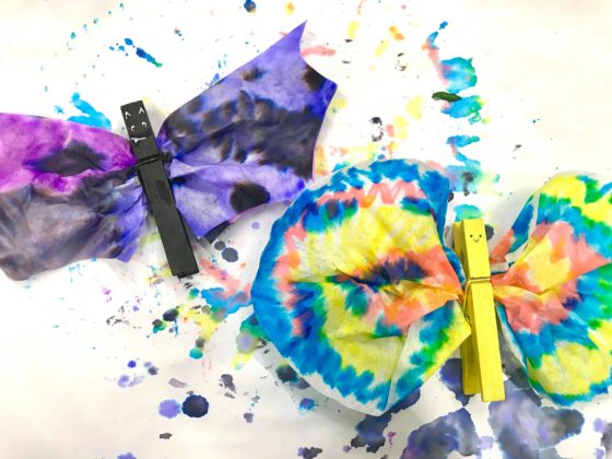 Coffee Filter Butterfly and Bat Craft