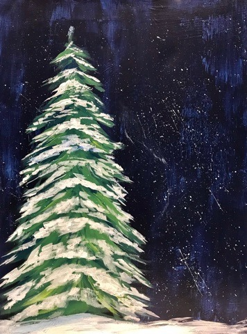 Easy Acrylic Pine Tree Painting Tutorial