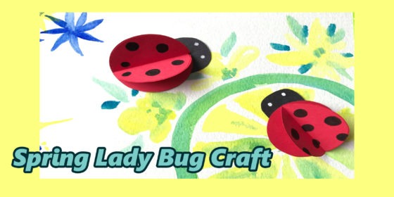 Easy Paper Lady Bug Craft