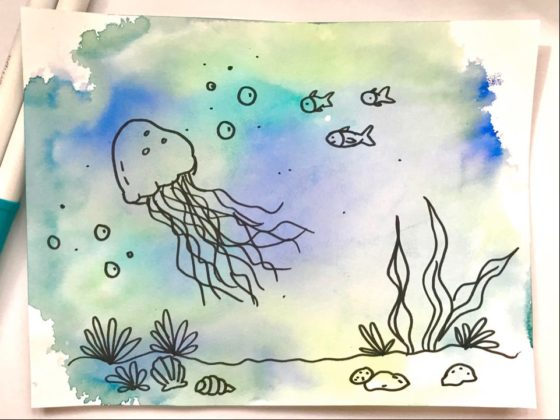 Easy Watercolour Effect Using Markers