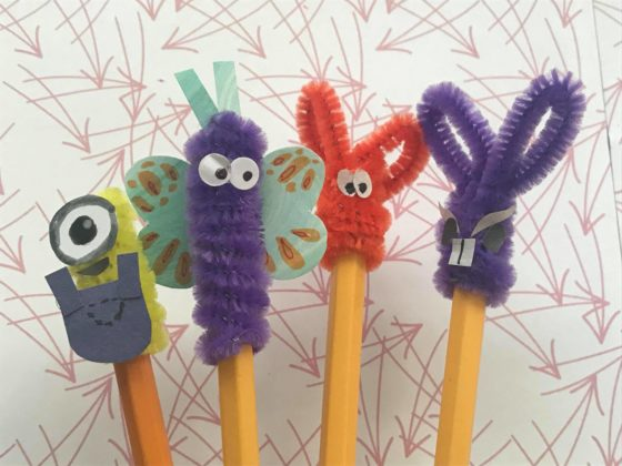 Easy Pipe Cleaner Pencil Toppers
