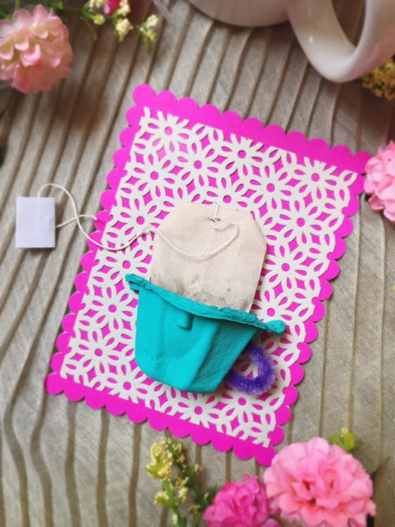 Easy Mother's Day Card Using Egg Carton