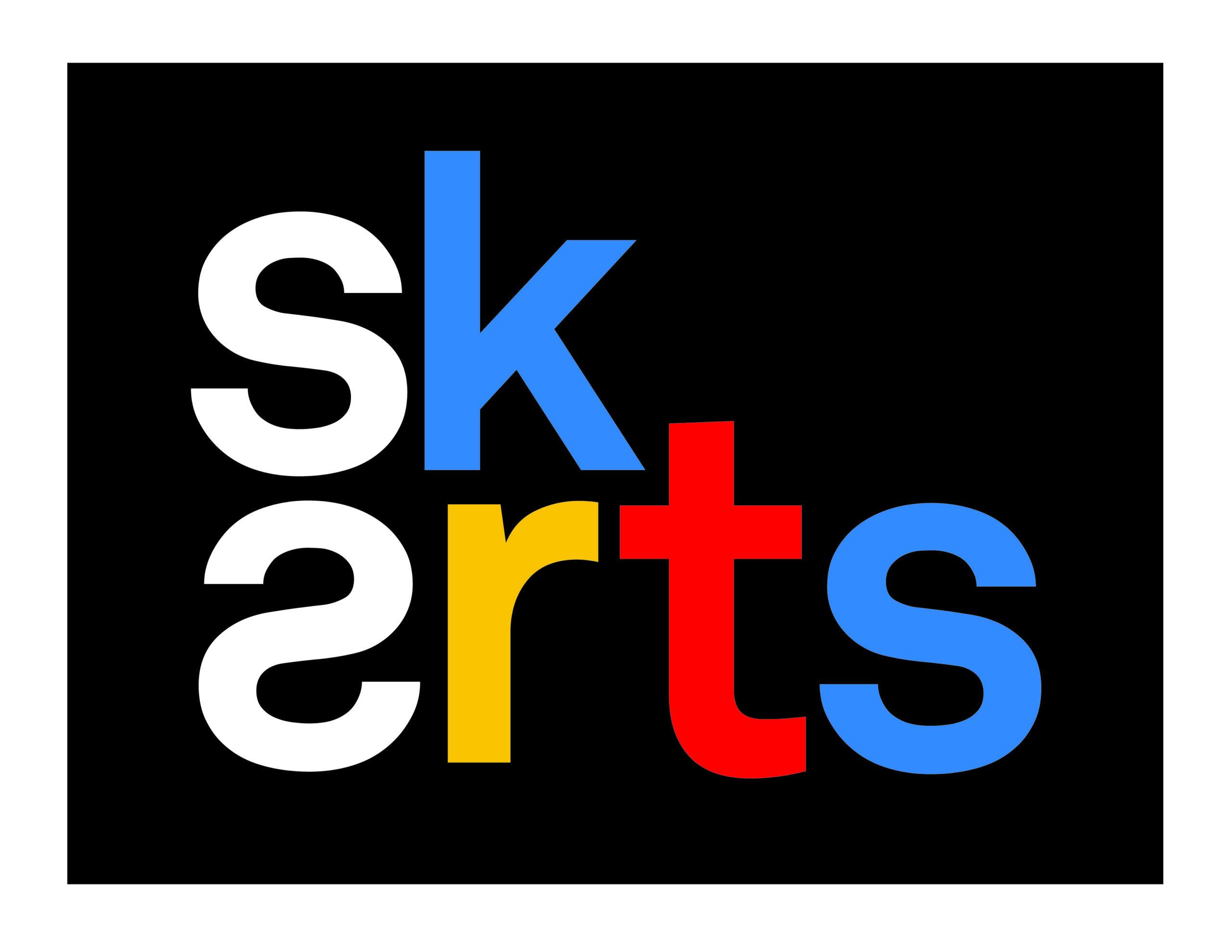 Saskatchewan Arts Board Logo in blue, yellow, red, white and black