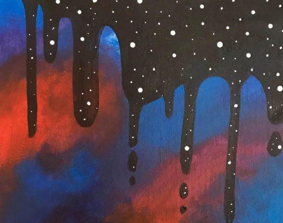 Easy Space Drip Painting Tutorial