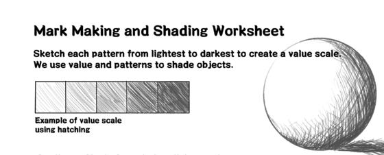 Mark Making and Shading