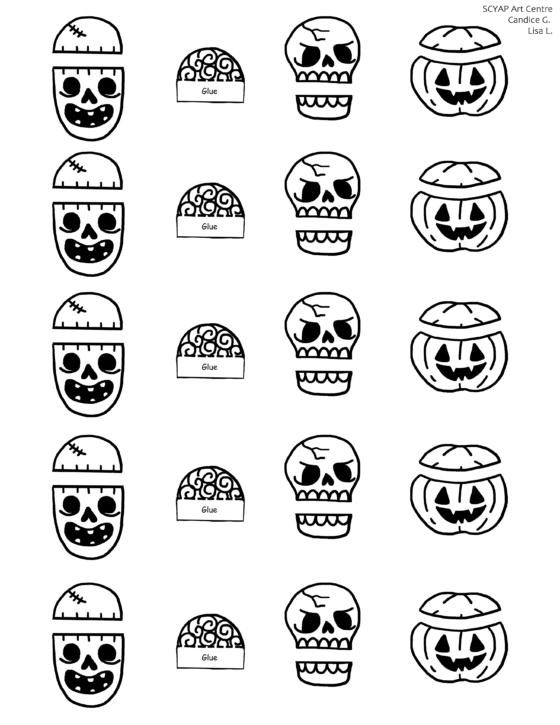 Halloween Clothes Pin Craft Printable