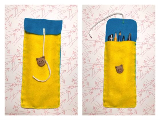 Easy Felt Pencil Pouch – Beginner Sewing Project