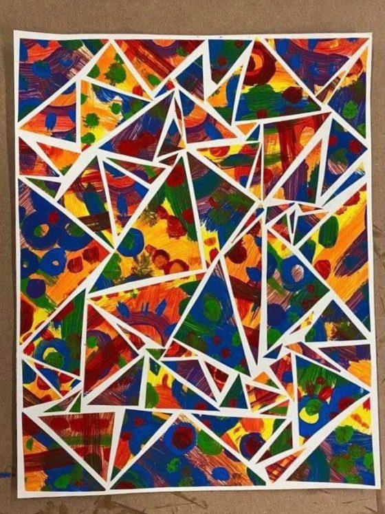 Abstract Mosaic Painting