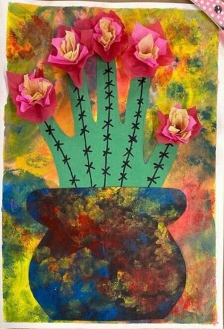 Mixed Media Hand Cactus