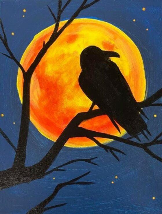 Midnight Moon Painting