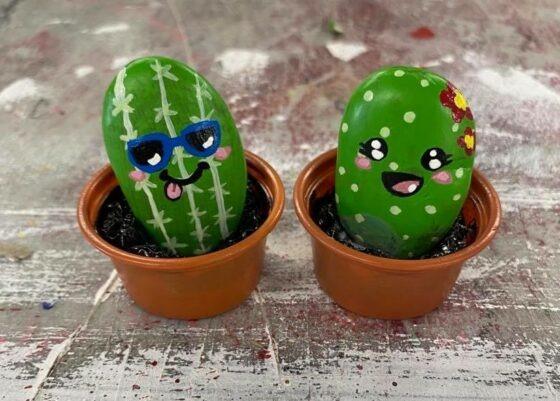Pebble Cactus Craft