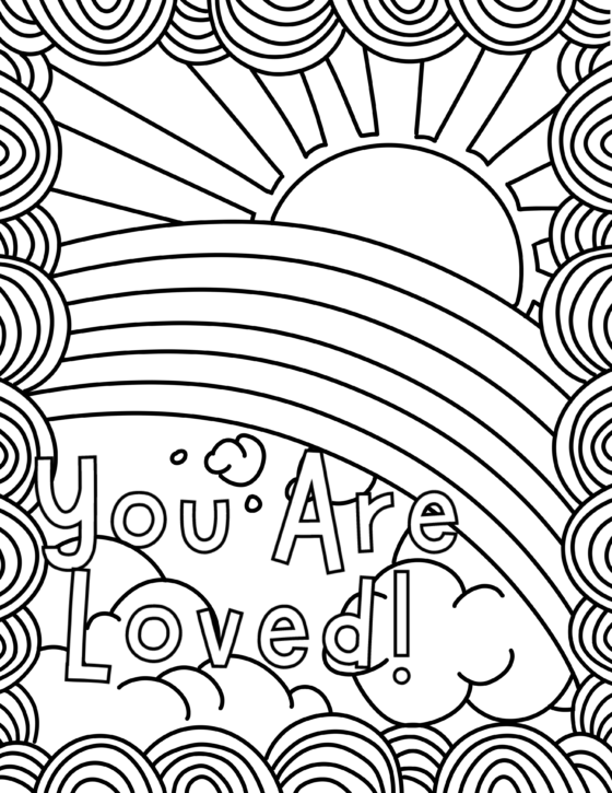 You Are Loved Colouring Sheet